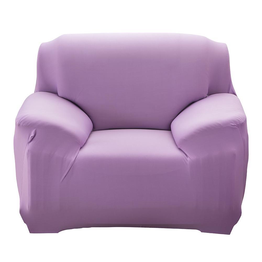 winnerecoファッションSlipcover StretchableピュアカラーソファクッションカバーソファSlipcover (ライトパープル) 1 Seat パープル 1we4fn7qe9bx3rb9 1 Seat  B074CJ13PD