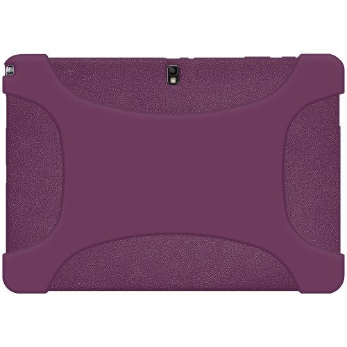 Amze Soft Silicone Skin Fit Jelly Case for Samsung GALAXY Note PRO 12.2/Tab PRO 12.2, Purple(AMZ96923) by Amzer