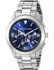 Michael Kors Mens Gareth Silver-Tone Watch MK8451