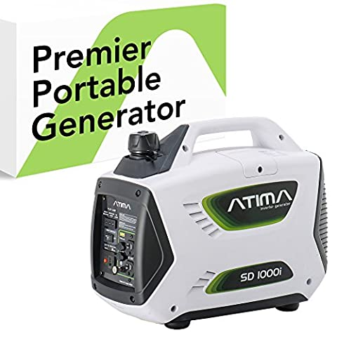 Atima SD1000i 1000 Watt Small Quiet Portable Inverter Generator, Carb Compliant Gas-Powered for RV Camping or Home (Power Gas Generator)