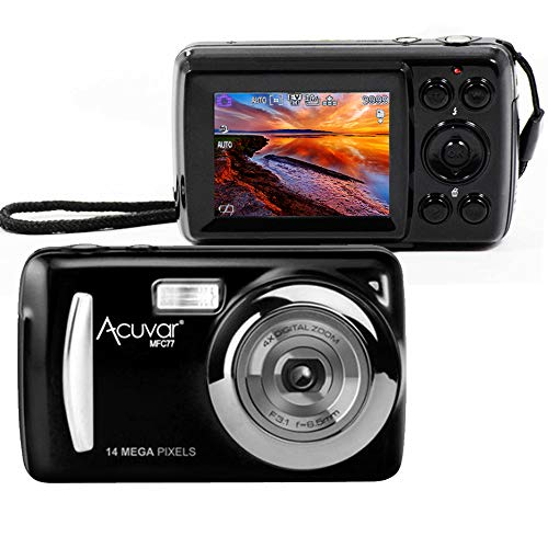 Acuvar 14MP Megapixel Compact Digital Camera and Video with 2.4