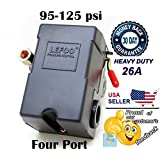 Lefoo Pressure Switch Control 90-125psi 4 Port Heavy Duty 26 Amp for Air Compressor LF10A-4H-1-NPT1/4-90-125 by lefoo