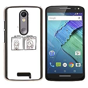EJOOY---Cubierta de la caja de protección para la piel dura ** Motorola Moto X3 3rd Generation ** --Divertido Dead Inside COMIC