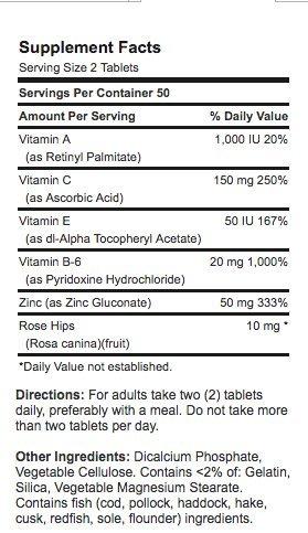 Amazon.com : Pastillas Para El Acne - 100 Tabletas De Zinc Con Vitaminas Y Minerales Para La Salud De Tu Piel : Beauty