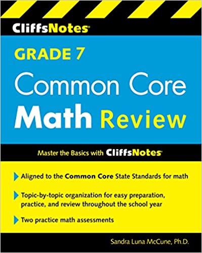 Amazon com: CliffsNotes Grade 7 Common Core Math Review (Cliffnotes