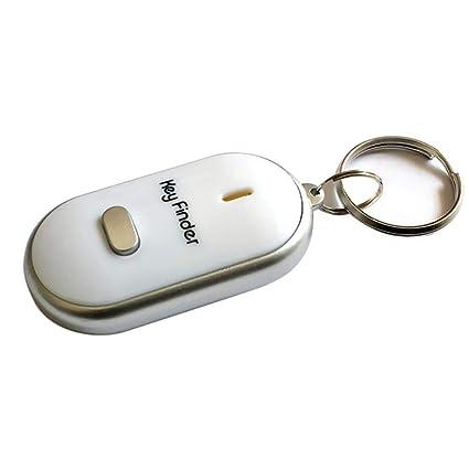 Mengonee LED de luz Intermitente pitido buscador de la Llave Buscar Perdido silbido de Control de Sonido Llavero de Regalo Llavero