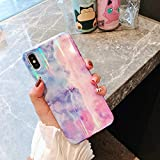 cocomii gradient marble iphone xr case, slim thin glossy soft flexible tpu silicone rubber gel