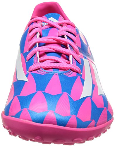 F10 TRX TF Football Trainers Neon Pink/Running White/Solar Blue Blue LeZw811Rr