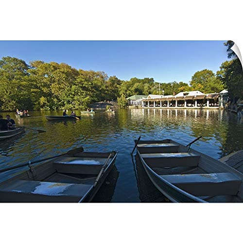 (CANVAS ON DEMAND New York, New York City, Central Park, Loeb Boathouse Wall Peel Art Print, 24