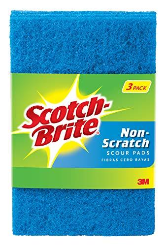 Scotch-Brite Non-Scratch Scour Pads, 0.15 Pound ()