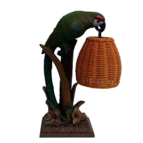 Table Lamps Multi Color Finish - Topotdor Parrot Paradise Table Lamp Resin Body with Multicolor Finish Table Lamp (Parrot lamp)