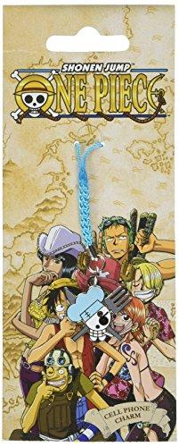 - One Piece Onepiece Sanji Jolly Roger Skull Metal Cellphone Charm Anime Keychain