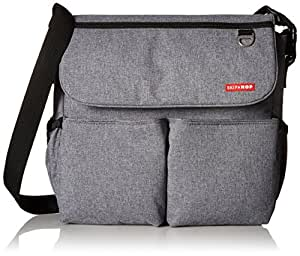 skip hop dash signature messenger diaper bag heather grey baby. Black Bedroom Furniture Sets. Home Design Ideas