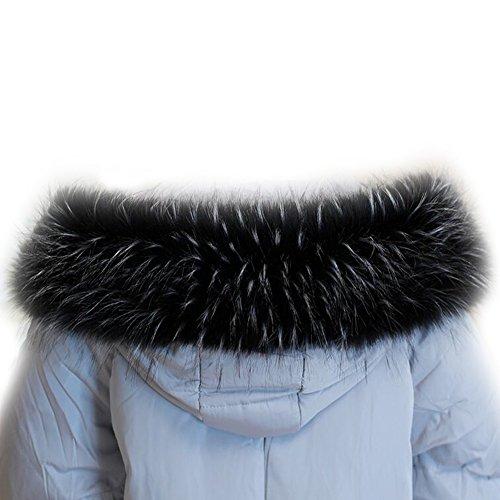 Faux Fur Collar Hood Full Fake Fur Trim Wrap Scarf for Winter Parka Coat Jacket