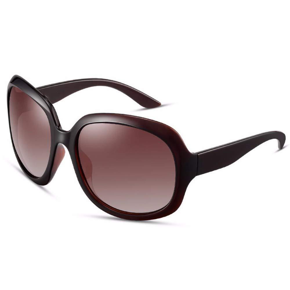 D Sunglasses Women's Ultrapurpleproof Large Frame Sunglasses Round Face Polarizing Glasses,C