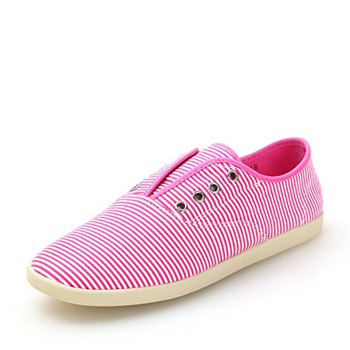 Calzado ligero rayas casual primavera/Un pedal zapatos Rojo