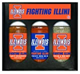 8 Pack ILLINOIS Fighting Illini Boxed Set of 3 (Cajun Seas,Stk/Rib Rub, BBQ Rub)