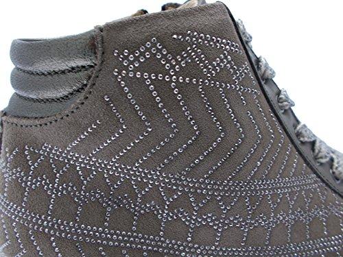 Article C3711 lacets perles taupe taupe pied charnière orthopédique Roi
