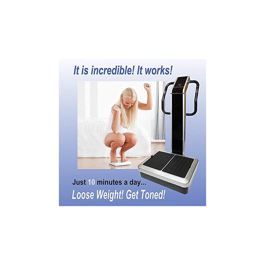 Whole Body Vibration Machine Dual Motor by SDI : Commercial (2HP, 440 lbs), Dual Motor, Large Vibrating Platform, USB Programmable