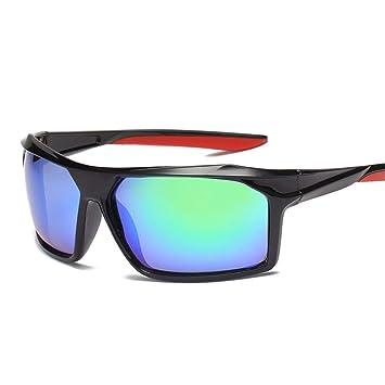 FRFG Gafas de Sol polarizadas Deportivas Gafas de Montar para Exteriores Gafas de Sol Anti-UV para Hombres, Marco Negro Verde: Amazon.es: Deportes y aire ...