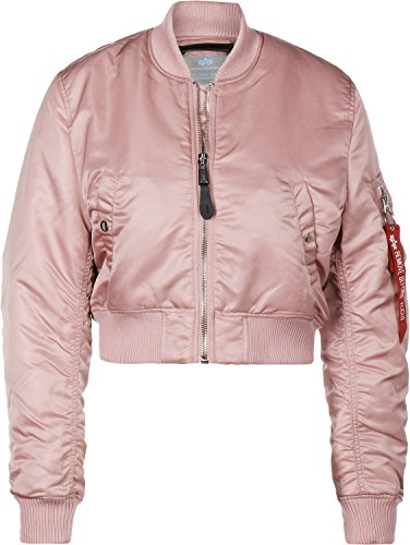 Wmn Jacket Industries Alpha 1 Women Silver Sf Cropped Pm Pink Ma 8qnnOd4wC
