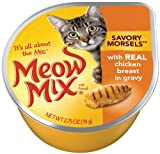 Meow Mix Savory Morsels with Real Chicken Breast in Gravy, 2.75oz Cups (Pack of 24), My Pet Supplies