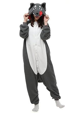 b29171286a80 Amazon.com  OLadydress Unisex Wolf Cosplay Pyjamas
