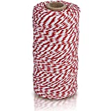 eBoot Kitchen Cooking Twine String, 100 Meter, Red and White