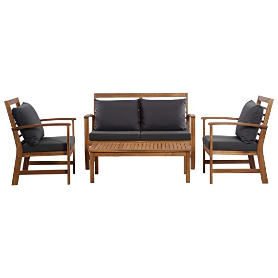Amazon.com : Asmuse Garden Sofa Set 12 Pieces Solid Acacia ...
