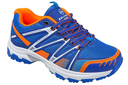 gibra - Zapatillas de sintético/textil para mujer Azul - azul y naranja