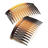 Two Piece Black Sprung Teeth Hair Comb Sets 8cm
