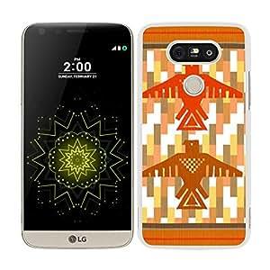 funda carcasa para LG G5 estampado indio totem borde blanco