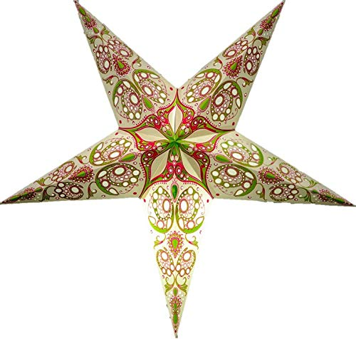 Monarch Paper Star Lantern (Pink - Green) by UMTA