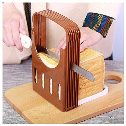 Rendodon(TM)Hot!! Toast Bread Slicer Bread Slicer Foldable Toast Evenly Cutting Tools Slice Helper Kitchen Home Tools (Cut the bread into 4 thickness: 15/20/24/30mm)