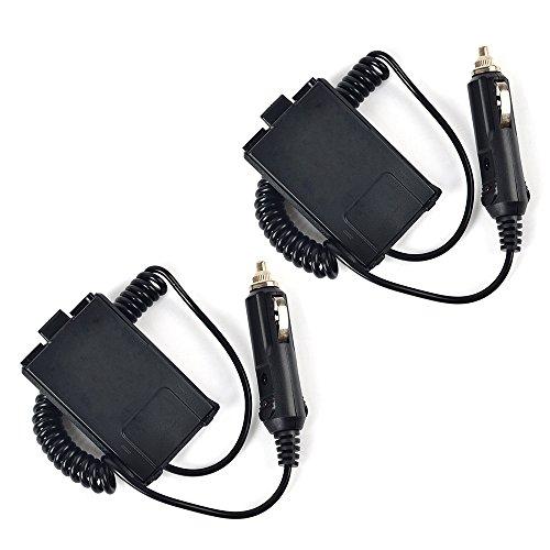 Two Way Radio Battry Eliminator with DC 12V Car Charge Cable for Baofeng UV-5R UV-5R+ UV-5RA UV-5RA+ UV-5RB UV-5RC UV-5RD UV-5RE UV-5RE Plus Walkie Talkie 2pcs