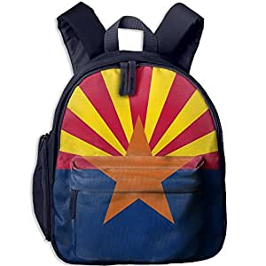 Children Flag Of Arizona School Backpack Gift For Baby Boys & Girls Bookbags School Travel Outdoor Bagpack With Pocket For Toddlers Kids