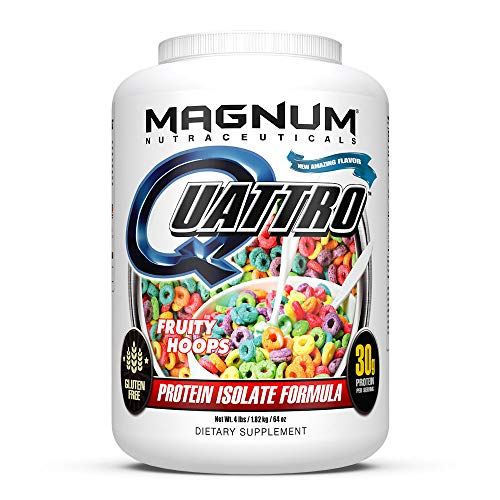 Magnum Nutraceuticals Quattro Fruity Hoops Lactose-Free Protein Powder for Men & Women (4 lbs.)