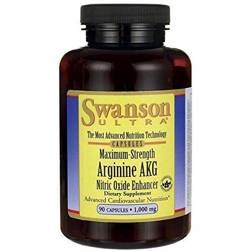 Swanson Maximum Strength Arginine Akg Nitric Oxide Enhancer 1,000 mg 90 Caps