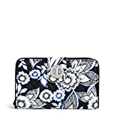 Vera Bradley Women's RFID Turnlock Wallet, snow lotus One Size
