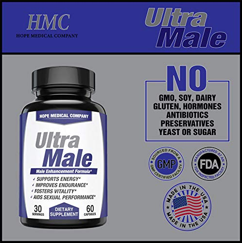 Best Fast-Acting Male Enhancing Pills - #1 Testosterone Booster for Men Increase Size, Drive, Stamina & Endurance - L Arginine, Tongkat, Maca, Ginseng Supplement - Boost Energy, Muscle & Performance by HMC (Image #3)