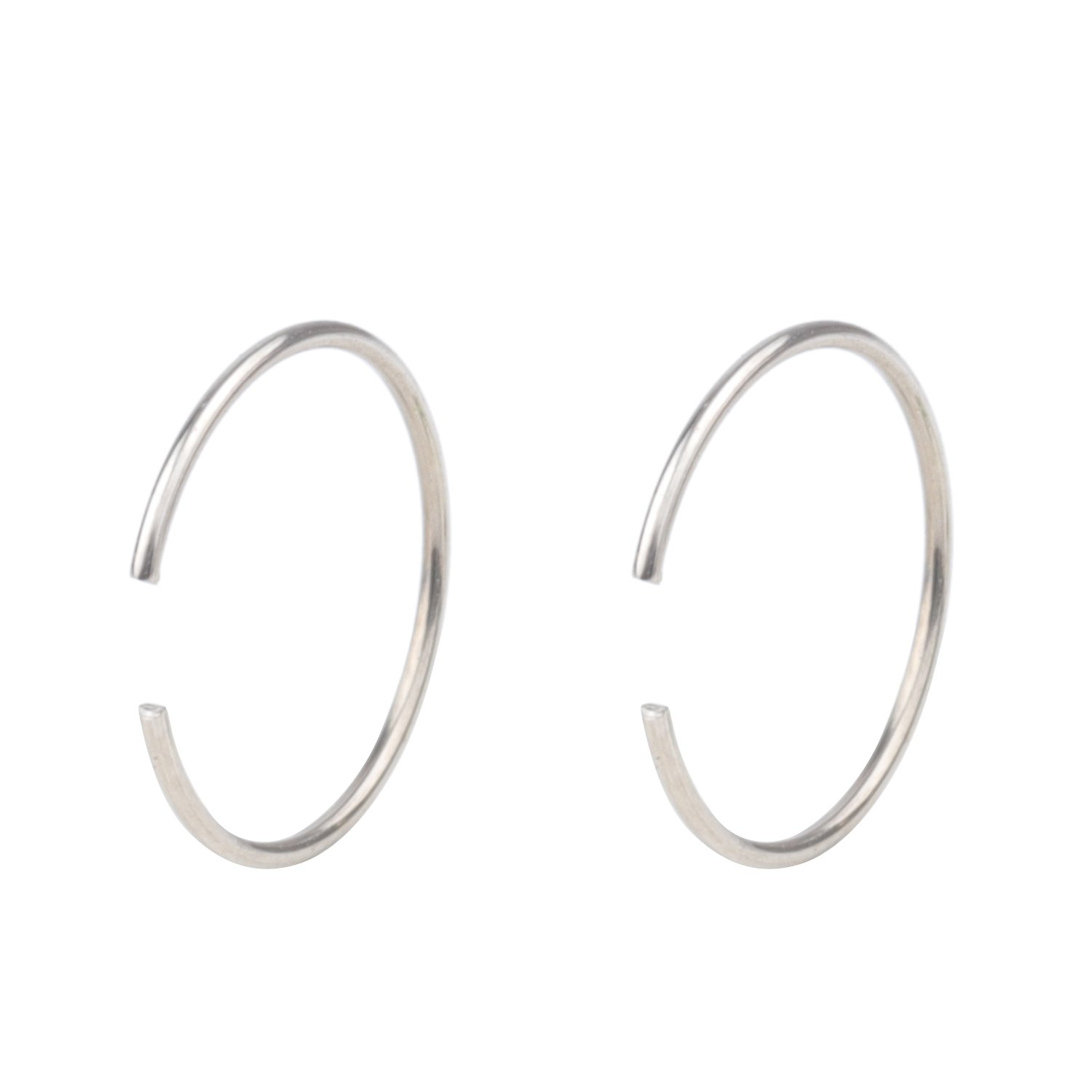 TLB 20G Tiny Nose Ring Hoop Nose Piercing Clip on Ear Hoop Ring Fake Nose Ring Nose Lip 6mm