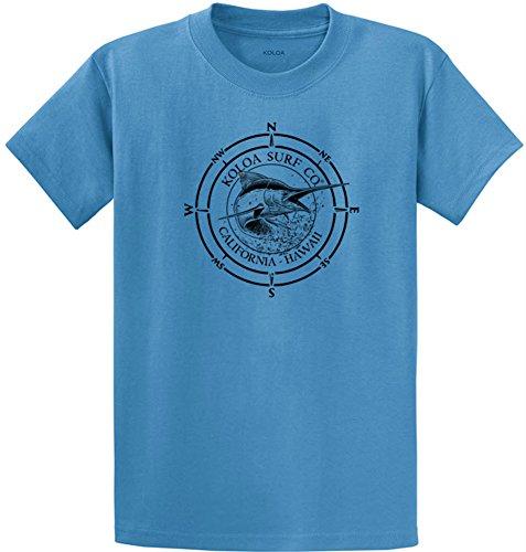 Koloa Surf Black Marlin Logo Heavyweight Cotton T-Shirts in Regular, Big & Tall