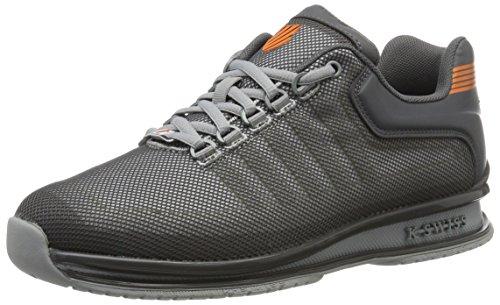 K-Swiss Men's Rinzler Trainer Low-Top Sneakers, Ensign Blue/Allure, 8 UK Black (Charcoal/White/Vibrant Orange 084)