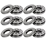 uxcell10mmx26mmx11mm Single Row Thrust Ball Bearing 51200 6pcs