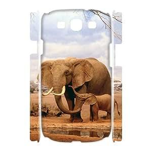 Custom Case for Samsung Galaxy S3 I9300 3D - Lovely Elephant ( WKK-R-77608 )