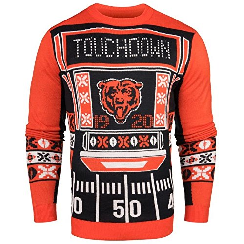 purchase cheap 26e1b 9465e Galleon - FOCO NFL Chicago Bears Mens Ugly Light Up Crew ...