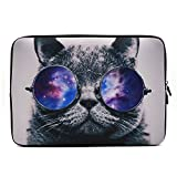 iCasso Stylish Soft Neoprene Sleeve Case Cover Bag For Macbook Air/Pro/Retina 13 Inch/2016 New Retina (13 inch, Cool Cat)
