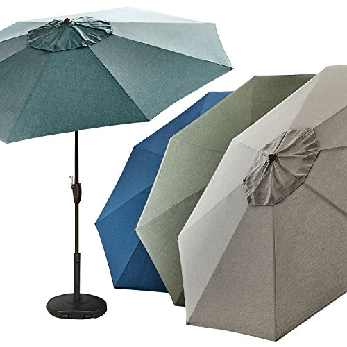 SUNBRELLA Outdoor Commercial Heavy-Gauge Adjustable Tilt 10′ Market Umbrella (Spectrum Indigo) Review