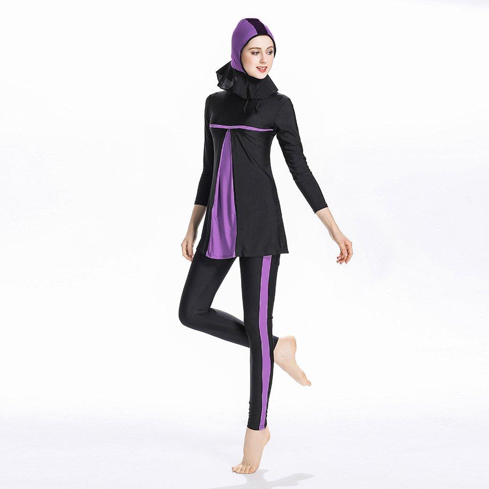 modesto Islamica musulmana costumi da bagno Costume da bagno per donne Hijab costumi da bagno copertura completa Swimwear Musulmano Beachwear nuoto tuta ziyimaoyi