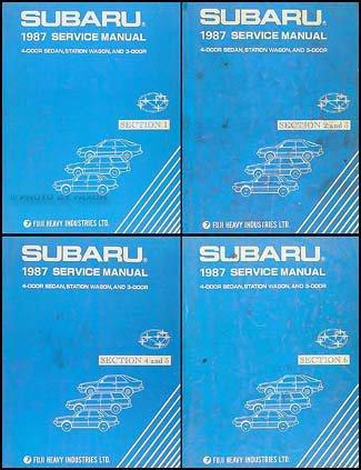 - 1987 Subaru Repair Shop Manual Set Original DL GL RX Turbo Brat